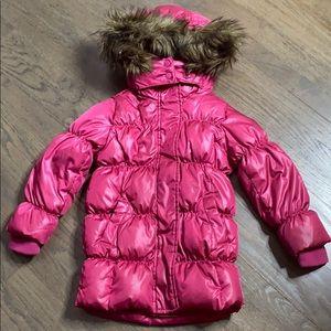 GAPKids Convertible Down Puffer Parka Coat Pink